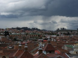 Getting ready to rain in Cuenca