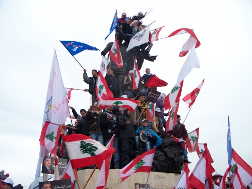 Political Rally at Martyr's Square, Beirut, Lebanon