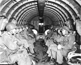 WWII Paratroopers preparing for a jump.