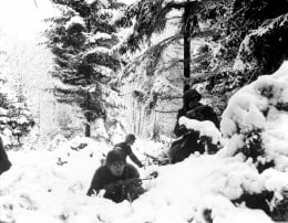 U.S. Soldiers during the Battle of the Bulge.