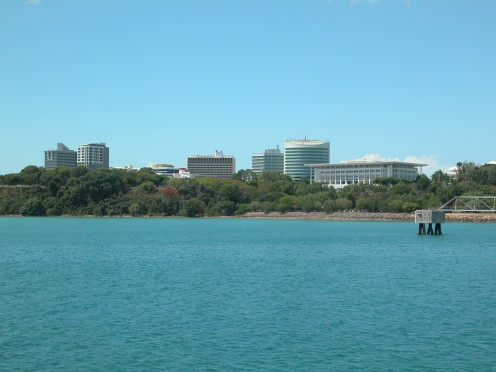 Darwin harbour is the most beautiful blue. Image by JB