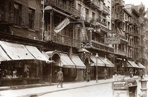 Mott Street in Chinatown NYC early 1900s