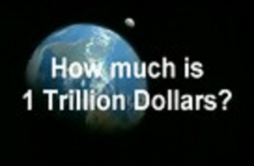 How much is One Trillion dollars?