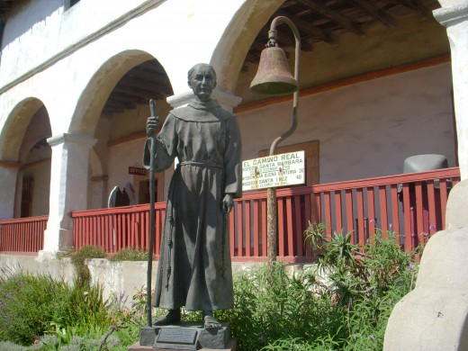 Mission Santa Barbara ~ Father Junipero Serra ~ El Camino Real Bell.