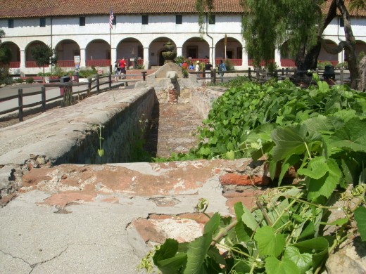 "Mission Santa Barbara ~  The ""Lavanderia"", Clothes Washing"