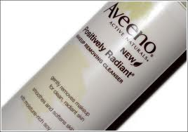 Aveeno Positively Radiant Cleanser, use late Spring through early Fall.