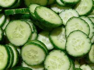 Cucumbers and tea bags are a quick and inexpensive way to get rid of baggy tired looking eyes !