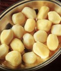 plain, boiled potatoes