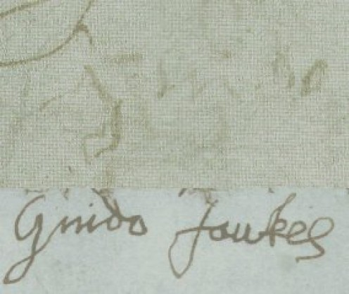 See: http://en.wikipedia.org/wiki/File:Guy_fawkes_torture_signatures.jpg