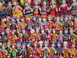 Hand made dolls. Luang Prabang, Laos.
