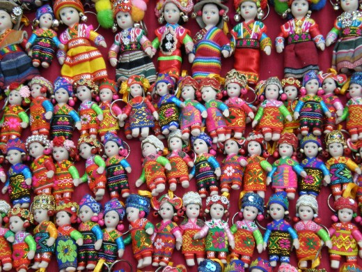 Hand made dolls. Luang Prabang, Laos.