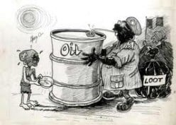 Nigeria has 3% of the worlds oil reserves.