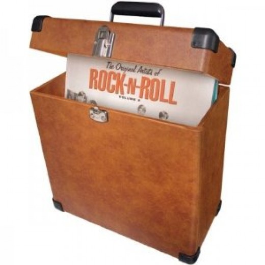 Vintage vinyl record carrier