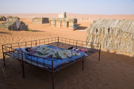 Tourist accommodations in Wahiba Sands, Oman.