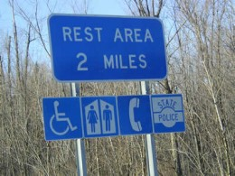 When traveling, you will probably have to visit a Rest Area one time or another!
