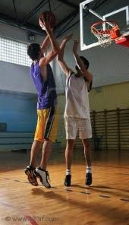Basketball-a friendly pick up game. A friendly banter back and forth every once in a while between friends is terrific.