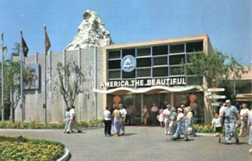 Circarama Exhibition Building Disneyland's Tomorrow Land 1967 (Courtesy of  Disneyland Postcards.com)