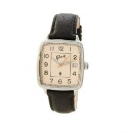 Gibson Watch, Vintage Square White Dial, Canvas Strap