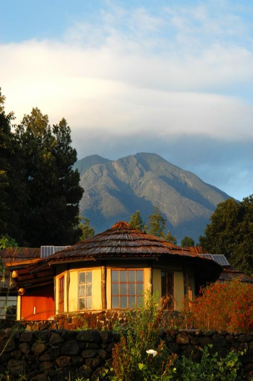 The lodge in Rwanda