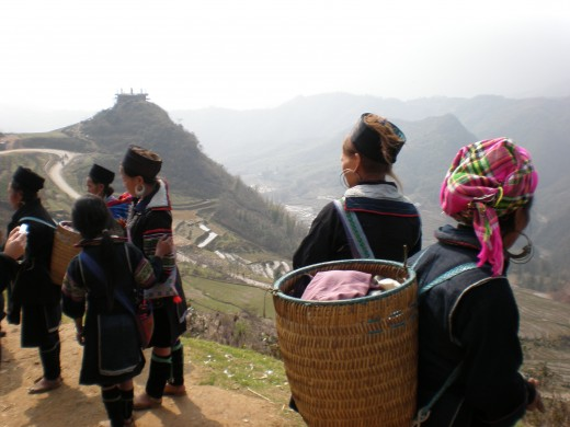 Hill Tribe Women in the Mountainous Region where Sapa is located.