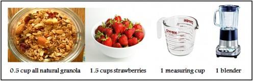Granola strawberry smoothie essentials
