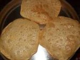 Deep fried puris - puffed puris