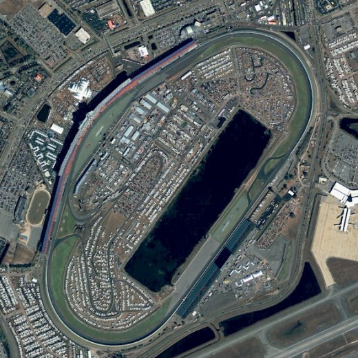 Daytona International Speedway - Designed for speed, the arena of speed. Many names, all true.