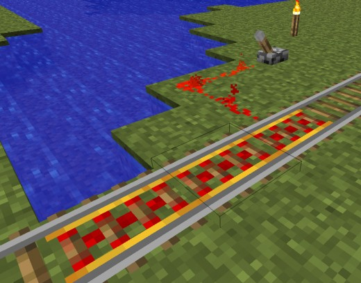 Scroll down for crafting instructions for making powered booster rails for minecarts.