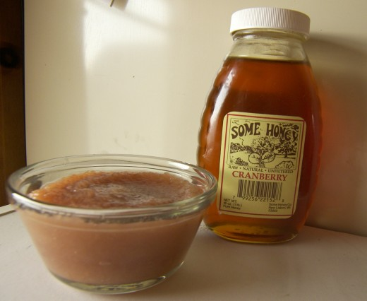 Homemade Cranberry Blossom Honey Applesauce