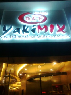 Dining in- Yakimix, Japanese Buffet, at Greenbelt 3, Makati City