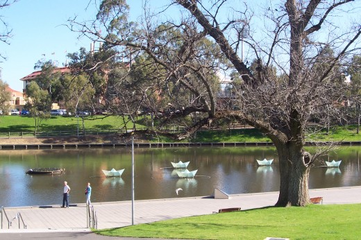 Torrens River runs through Adelaide.
