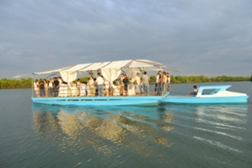 The exciting river cruise in Dagupan City.