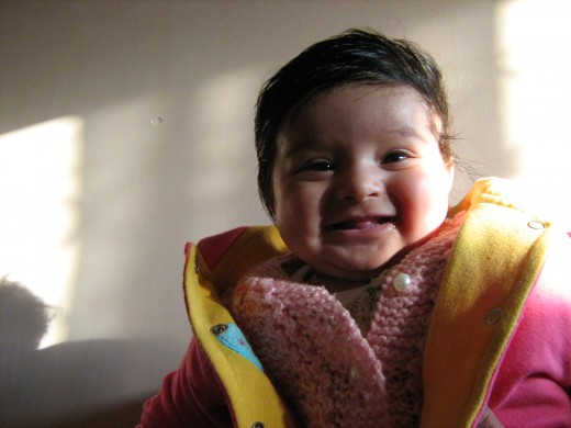 My daughter, Shronika Soni, when she was just 6 months old.