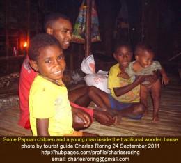 Papuan Children in Kwau village of Arfak mountains