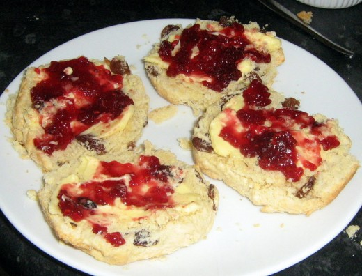 Homemade Scones with jelly