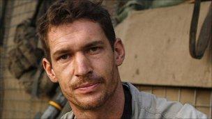 "Tim Hetherington. Award-winning British photographer killed in Lybia. ""Too sad."""