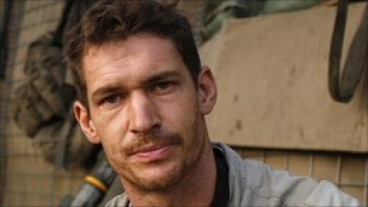 "Tim Hetherington. Award-winning British photographer killed in Lybia. ""Too sad."""