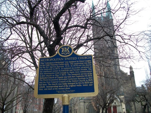 Toronto's Metropolitan United Church, known as a 'Cathedral of Methodism'