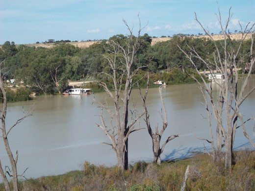 Looking across at the Murray