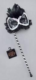 Black & White Mask On a Stick