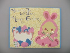 Easy to Make with Cricut Card Idea- Easter Holiday