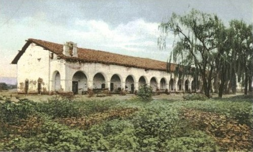 A mission in the San Fernando Valley in 1900.