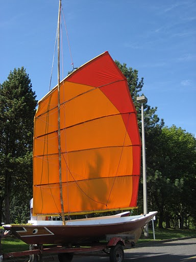 Tari Tari is almost a sampan, and definitely a sailboat. We built her together in 2009.