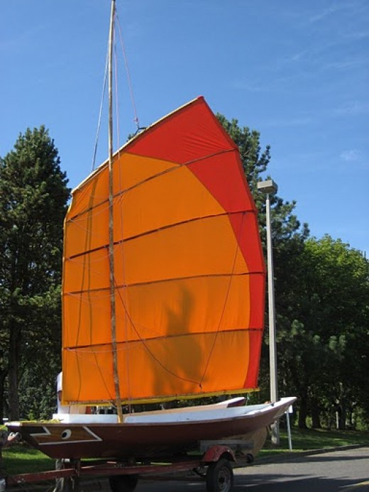 Tari Tari is almost a sampan, and definitely a sailboat. We built her together in 2009.
