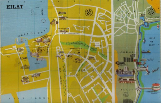 Eilat map, Israel