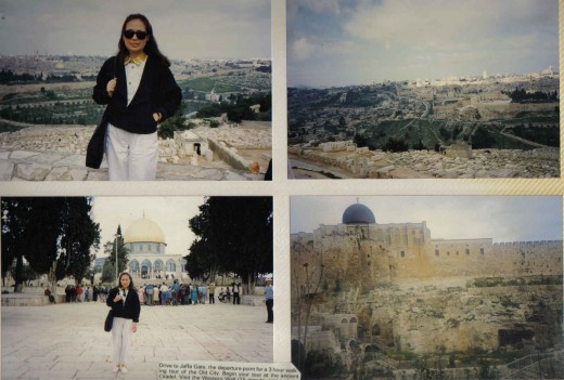 Drive to Mt. Scopus & Mt. Olives for panoramic view of the old city of Jerusalem, Israel