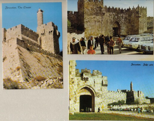 Jerusalem: The Citadel, Damascus gate, Jaffa gate, Israel