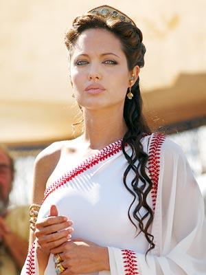 Angelina Jolie in a sari