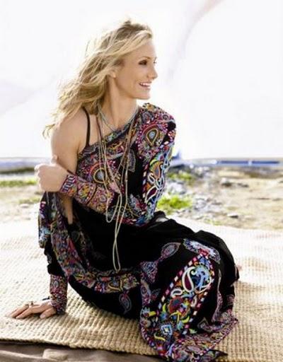 Cameron Diaz in a sari