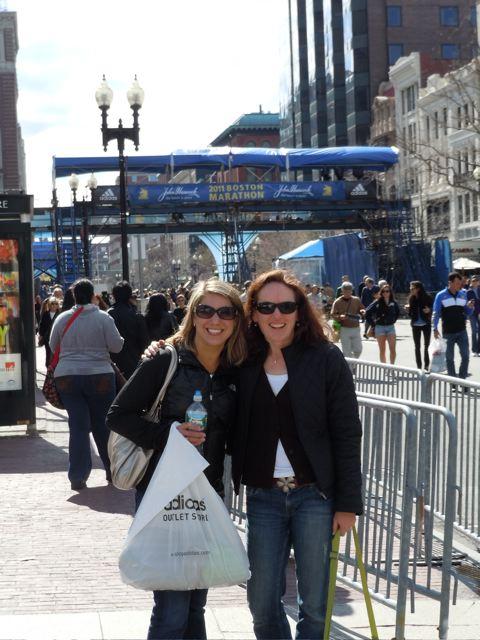 Boston Marathon finish line!